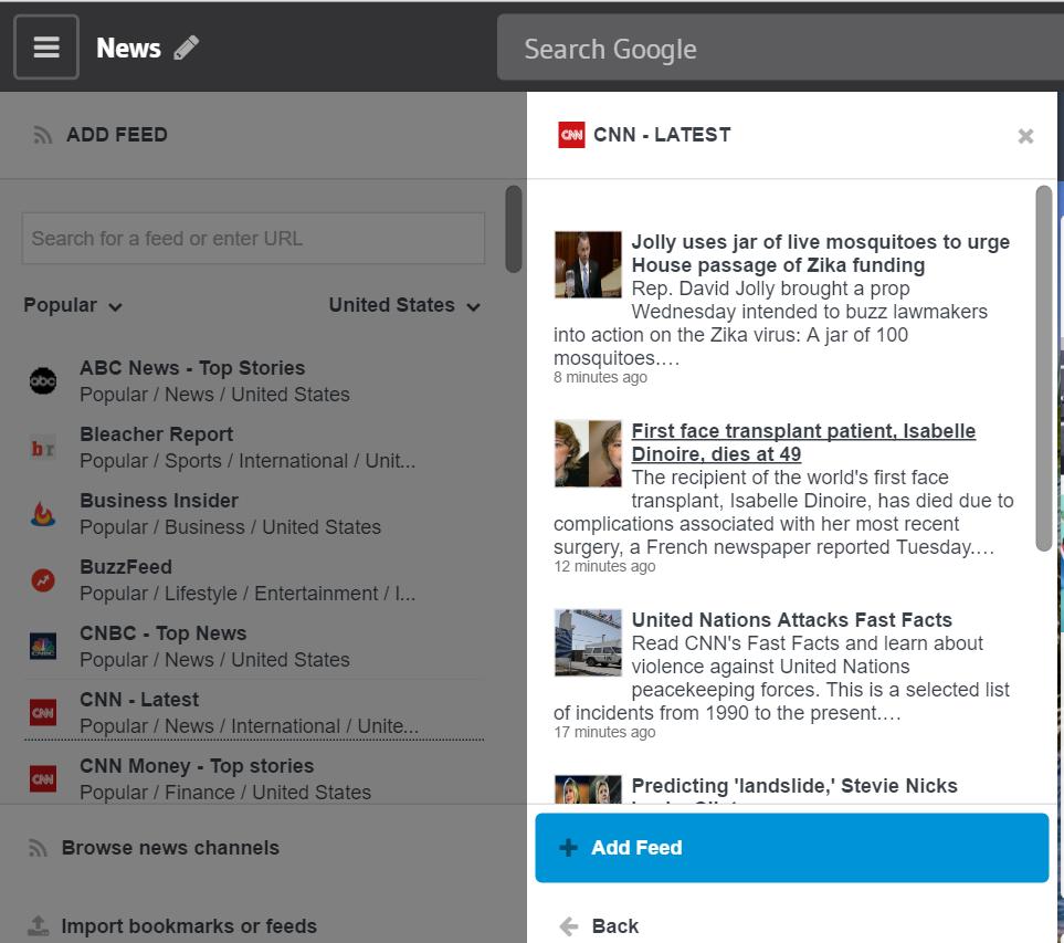 Forex news feed widget